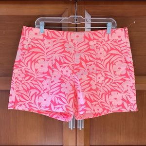 NWT J. Crew Neon Pink Floral Shorts